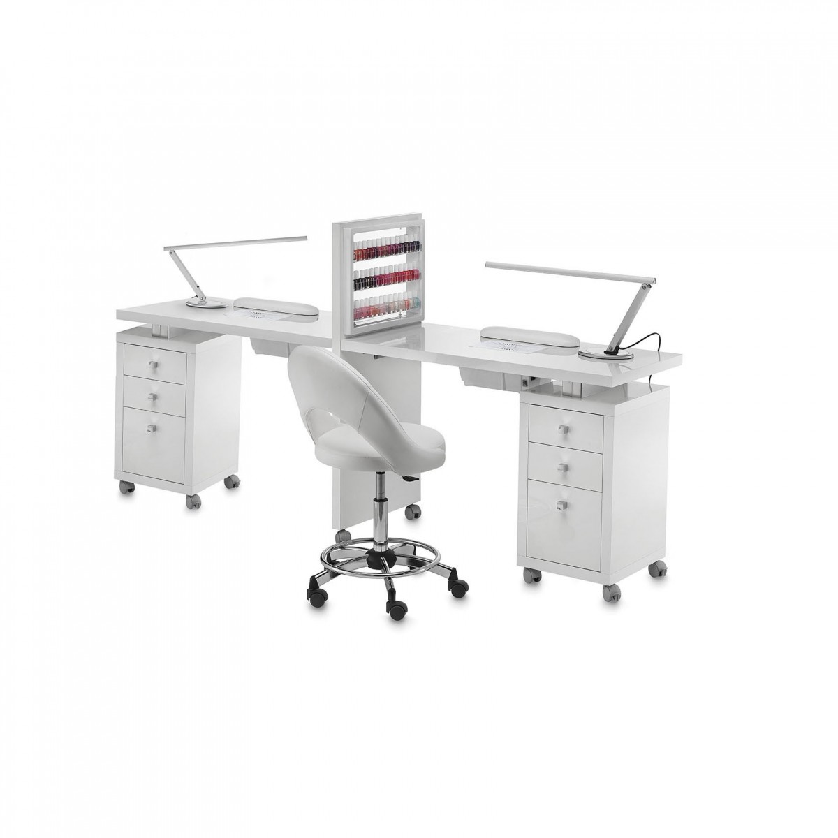 Tavoli manicure con o senza micromotori singoli,multipli con accessori